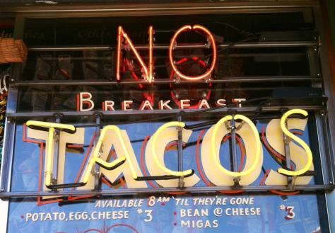 SXSW No Breakfast Tacos
